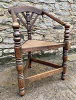 Antique Oak Turners Corner Chair (5 of 14)