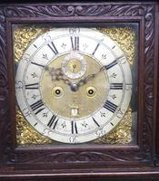 Early 18th Century Longcase Clock Fine English Oak  James Smith Grandfather Clock Brass Dial c.1720 (7 of 10)