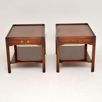 Pair of Georgian Style Mahogany Side Table c.1950s (3 of 12)