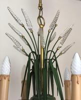 Vintage Art Deco Style Murano & Toleware Wheatsheaf Ceiling Light Chandelier (12 of 12)