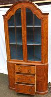 1960s Mahogany Dome Topped Corner Cabinet on Stand (3 of 4)