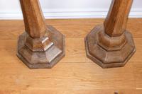 Antique Oak Jardinière Pedestals Stands (5 of 10)