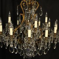 French Gilded Bronze 17 Light Antique Chandelier (6 of 10)
