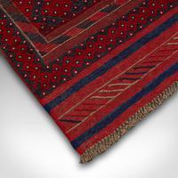 Long Antique Meshwari Runner, Persian, Wool, Kilim, Hallway, Carpet c.1900 (8 of 12)