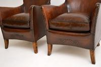 Pair of Antique Swedish Leather Armchairs (11 of 12)
