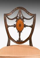 Finely Carved Pair of Late George III Period Mahogany Hepplewhite Chairs (5 of 5)