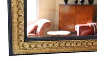 Large Black and Gilt 19th Century Overmantle or Wall Mirror (3 of 6)