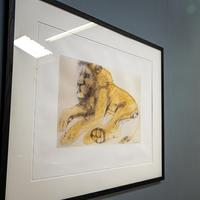 Lithograph of Recumbent Lion (3 of 6)