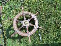 Oak & Brass Ships Wheel (9 of 11)