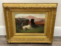 """19th Century Oil Painting Sporting """"Game Dogs"""" Signed Robert Cleminson (9 of 48)"""