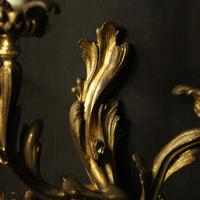 French 19th Century Pair of Bronze Antique Wall Sconces (5 of 10)
