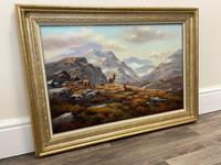 """Oil Painting Scottish Stags """"Denizens of the Highlands"""" Signed Wendy Reeves (27 of 45)"""