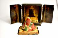 Travelers 19th Century Japanese Buddha/ deity in black lacquered case (5 of 10)