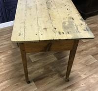 Georgian Two Drawer Pine Side Table (9 of 19)
