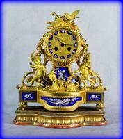 Fine Ormolu Porcelain Cherub Mantle Clock (2 of 10)
