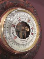 Antique Solid Walnut Manchester Aneroid Barometer (2 of 6)