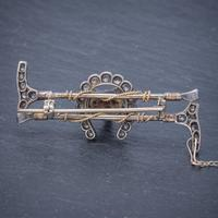 Antique Victorian Diamond Fox Hunting Riding Brooch Silver 18ct Gold 2ct of Diamond c.1900 (2 of 7)