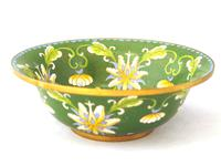 Fine Japanese Green Cloisonné Orchid Bowl (3 of 5)