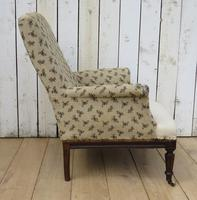 Shapely Antique Napoleon III Armchair for Re-upholstery (5 of 8)