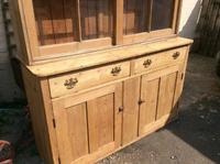 Very Large Antique Pine Dresser Sliding Glazed Doors (7 of 10)