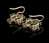 Antique Victorian Bohemian Garnet Flower Earrings, 9ct Gold (4 of 11)