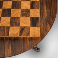 Antique Games Table, English, Rosewood, Mahogany, Chess Board, Victorian c.1880 (2 of 12)