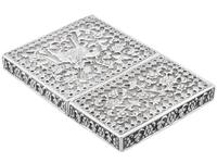 Indian Silver Card Case - Antique c.1880 (6 of 9)
