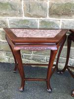 Pair of Oriental Chinese Marble Top Console Tables (2 of 12)