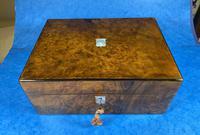 Victorian Jewellery Box in Burr Walnut (9 of 12)