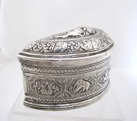 Beautiful Antique Silver Shan States Burmese Lime Box c.1900 (4 of 8)