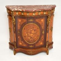 Antique French Inlaid Marquetry  Marble Top Cabinet (11 of 12)