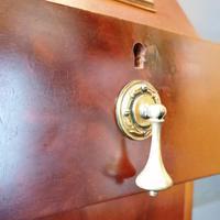 Victorian Mahogany Glazed Bookcase / Bureau with pigeon holes (7 of 14)