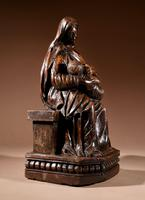 Charming Maria Lactans Sculpture Continental Early 18th Century (9 of 14)