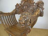 Outstanding Italian Walnut Savonarola Chair (12 of 12)