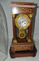 French Rosewwod Portico Clock Complete with Dome & Stand (3 of 9)