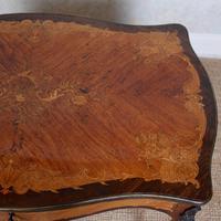 Serpentine Writing Table Louis XVI Style Inlaid Kingwood (11 of 19)