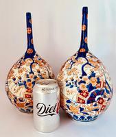 Pair of Imari Bottle Vases c.1900 (2 of 6)