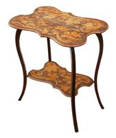 Shaped Beech Pokerwork Occasional Side Table c.1900 (5 of 6)