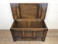 Vintage Carved Oak Blanket Box (5 of 10)