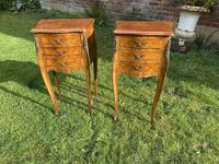Pair of French Marquetry Bedside Tables (6 of 6)