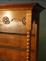 Attractive Early 20th Century Continental Oak Dresser & Rack (3 of 6)
