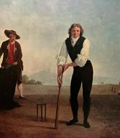 Large Fine Quality Vintage Cricket Cricketing Print - 18thc Georgian Manner (8 of 13)