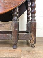 18th Century Antique Oak Gateleg Table (9 of 10)