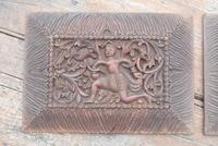 Pair of Early 20th Century Carved Wooden Asian Panels (2 of 10)