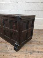 Antique Rare 17th Century Oak Coffer with Block Paw Feet (M-716) (5 of 16)