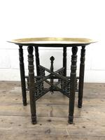 Early 20th Century Middle Eastern Brass Tray Top Folding Table (7 of 8)