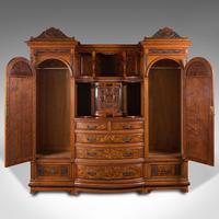 Large Fine Antique Wardrobe Compactum, English, Walnut, Gillow & Co, Victorian (3 of 12)