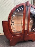 Art Deco Walnut Display Cabinet (3 of 11)