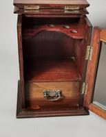 Antique Victorian Oak Smokers Cabinet (10 of 12)