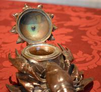 Fine Bronze Lobster Inkwell (9 of 10)